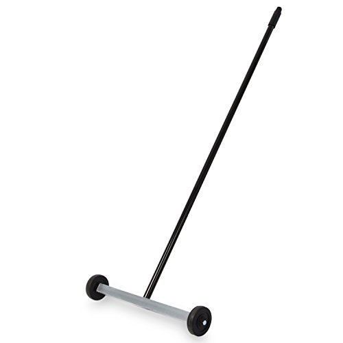 "Magnetic Floor Sweeper Push-Type with Wheels - 14.5"" Industrial Rolling Magnet for Picking Up Nails, Screws, and Metal Debris - Master Magnetics Magnet Type"