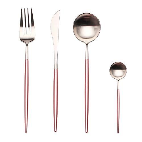 ( Apriling 4-Piece Stainless Steel Flatware Set 1 Including Fork Spoons Knife Tableware)