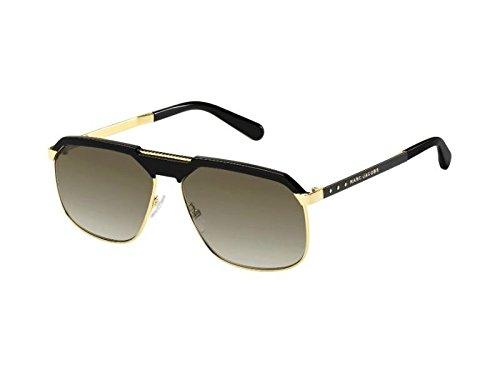 (Marc Jacobs 625/S Sunglasses Gold Black/Brown Gradient, 61)