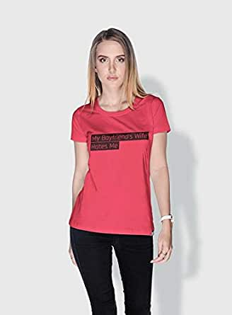 Creo My Boyfriends Wife Funny T-Shirts For Women - S, Pink