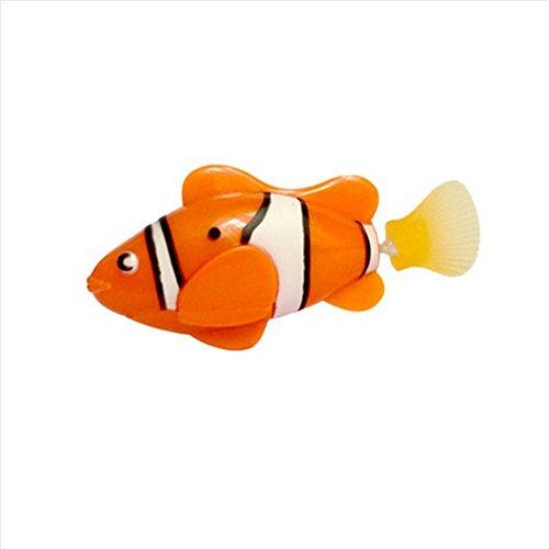 image Allbesta Robot sur batterie activé par le poisson robotique Jouet de poisson Enfants Enfants Cadeau pour animaux de compagnie