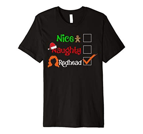 (Nice Naughty Redhead Shirt Santa Emoji Matching)