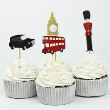 London England Cupcake Toppers Picks Party Decoration (Pack of 24)