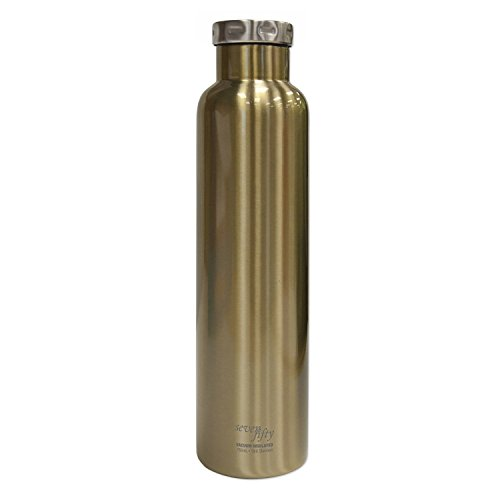 Fifty/Fifty Seven Fifty Double Wall Vacuum Insulated Wine Growler, 18/8 Stainless Steel, 750ml, Champagne Gold by FIFTY/FIFTY (Image #1)