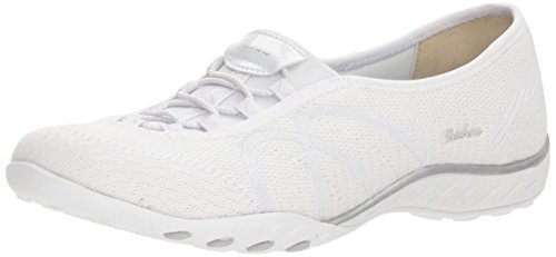 Skechers Sport Women's Breathe Easy Sweet Jam Sneaker,white,9.5 M US