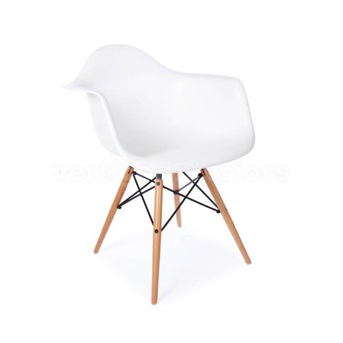 1 x High Quality Eames Style Classic DAW Dowel Dining Lounge Arm Chair - (Knoll Lounge)