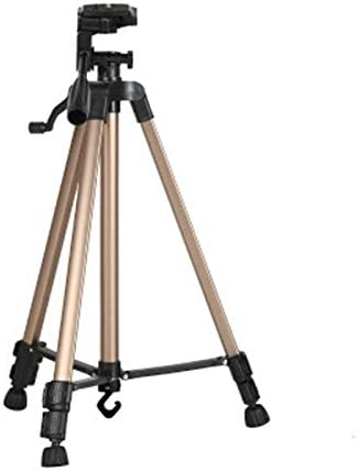 HUANGMENG Color : Gold Silver HUANGMENG Tripod Portable Phone Live Selfie 3366 Tripod Stand DV SLR Camera Self-Timer Full Light Bracket