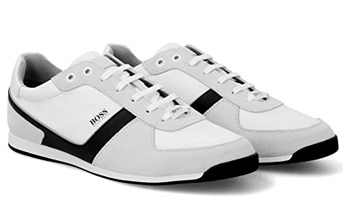 Hugo Boss Men's Shoes Glaze Lowp Nysd Fashion Sneaker Leather Suede Off White by BOS (6 M(D) US / 5 UK /39 ()
