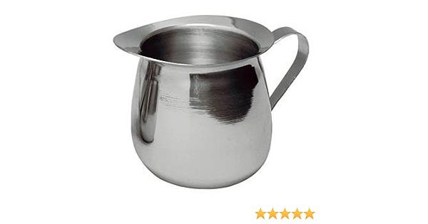 Amazon Com New 8 Oz Ounce Creamer Serving Creamer Coffee Milk Creamer Bell Shape Finger Handle 18 8 Gauge Stainless Steel Set Of 4 Creamers
