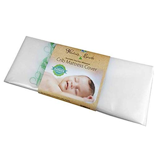 Harlow's Earth Waterproof Crib Mattress Cover- Protective Barrier Against Mattress Off-Gassing For Safe Sleep
