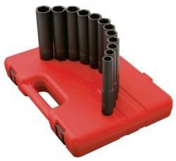 Sunex 2852 1/2-Inch Drive Extra Long Deep Metric Impact Socket Set, 9 Piece ()