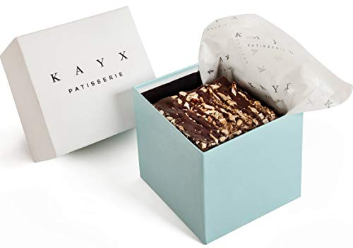 Dark Chocolate Bark Thins – Elegant Gift Box Package – Handcrafted with Natural and Fresh Ingredients – Crunchy, Salty and Sweet Snack – by KAYX (Cube) Review