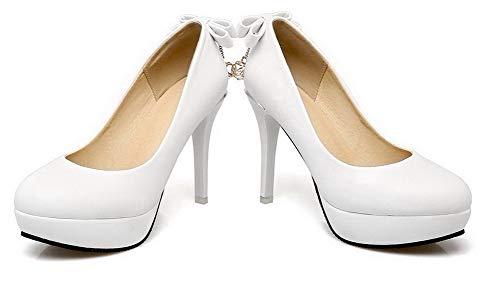 Femme L Agoolar Chaussures Rond Unie Couleur 7XCXqw