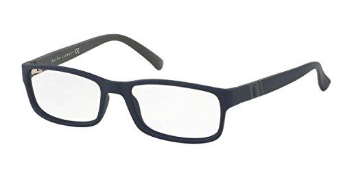 Polo PH2154 Eyeglass Frames 5590-54 - Matte Navy Blue - Glasses Polo Prescription