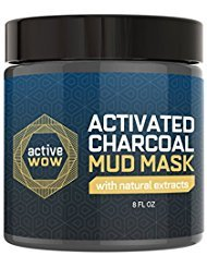 Active Wow Charcoal Mud Mask - Deep Pore Facial Cleanser and Healing Formula