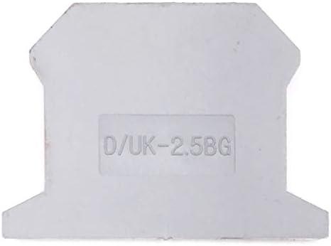 Erayco D//UK-2.5BG Lot de 50 Capuchons pour bornier DIN