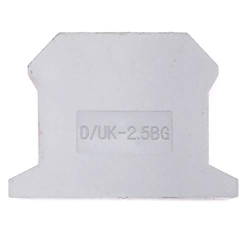 Erayco D/UK-2.5BG DIN Rail Mounted Terminal Block End Cover (Pack of 50)