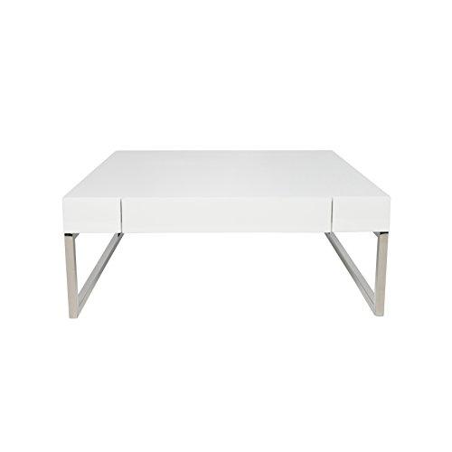 38' Cocktail Table (UrbanMod UM11456 Gavino Modern Stylish Coffee Table with Drawer White 42