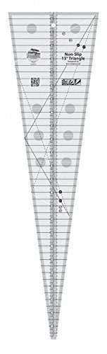 Creative Grids 15 Degree Triangle Triple Strip Quilting Ruler (CGREU1)