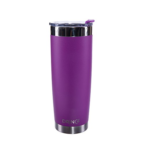 - Drinco - Stainless Steel Tumbler | Double Walled Vacuum Insulated Coffee Mug With Spill Proof Lid For Hot & Cold Drinks | Purple |Hiking, Camping & Traveling | BPA Free | 20oz
