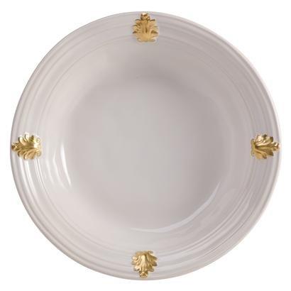 Juliska Acanthus Medium Serving Bowl - Whitewash And Gold