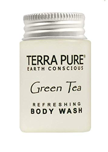 Terra Pure Green Tea Body Wash, 1 oz. In Jam Jar With Organic Honey And Aloe Vera (Case of 50)