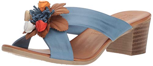Spring Step - Sandalias de tacón para Mujer, Azul, 35 M EU (US 5 US)