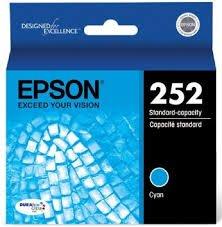 Epson Genuine Brand Name, OEM T252220 Cyan DURABrite Ultra Ink (300 YLD) for Workforce WF-3620, WF3620 DTWF, WF-3620 DWF, WF-3640, WF-3640 DTWF, WF-7110, WF-7110 DTW, WF-7610, WF-7610 DWF, WF-7620, WF-7620 DTW, WF-7620 DTWF Printers