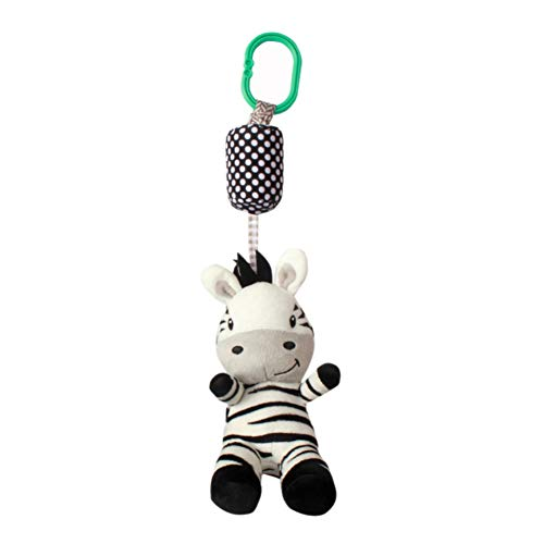 Balai Baby Toys Soft Hanging Rattle Crinkle Squeaky Bell Toy Kids Newborn Infant Stroller Car Seat Crib Handbells Travel Activity Plush Animal Wind Chime Squeak for Boys Girls 1 2 3 Years Old