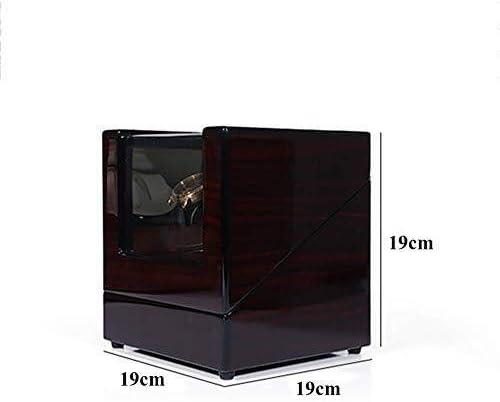 LKB-KB ダブルオートローテーションワインダーはロック腕時計ワインダーローテータ2電源モード-19×19×19cmの木製の収納ケースを表示します