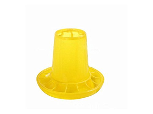 Yunqir Suitable Chick Drinker Drinking Fountain Economy Dispenser Feeder Food Barrel-Yellow by Yunqir