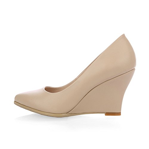 1TO9 1TO9Mms05300 - Sandalias con Cuña Mujer Beige
