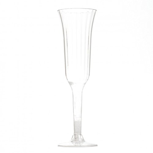 Koyal Wholesale Plastic Champagne Flutes (Pack of 12), 6 oz.
