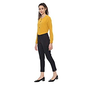 Allen Solly Women's Flat Front Slim Trouser Suit