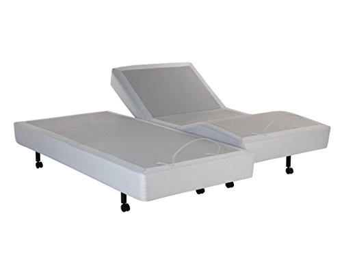 Leggett and Platt S-Cape Split Adjustable Bed Base, Wireless, Wall Hugger, Full Body Massage, King (Leggett Platt)