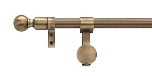 Zoroufy Stair Rods 15528 Grand Regency Collection Tubular Base Wall Hanger Set with Ball Finials, 72