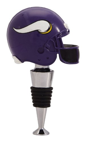 - Team Sports America NFL Minnesota Vikings Helmet Wine Stopper, Small, Multicolored