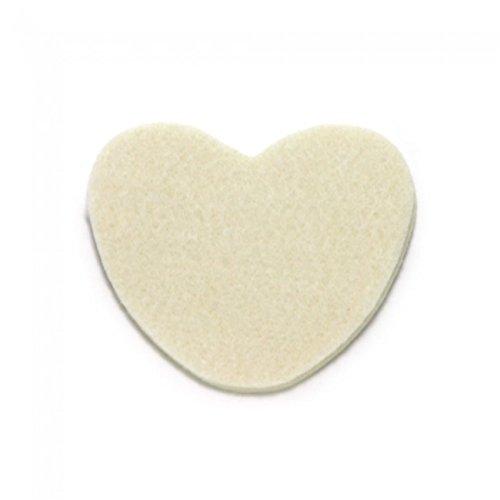 Moleskin Heart-Shaped Metatarsal Pads, 100/pkg from Atlas Biomechanics