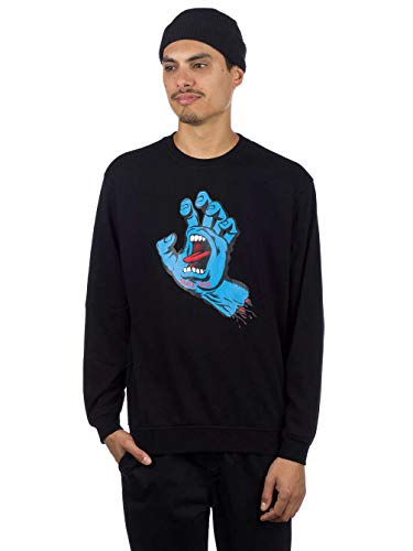 Taille one Santa Homme Crew Sweat Screaming Hand Noir Size Cruz xAqfqOgwT