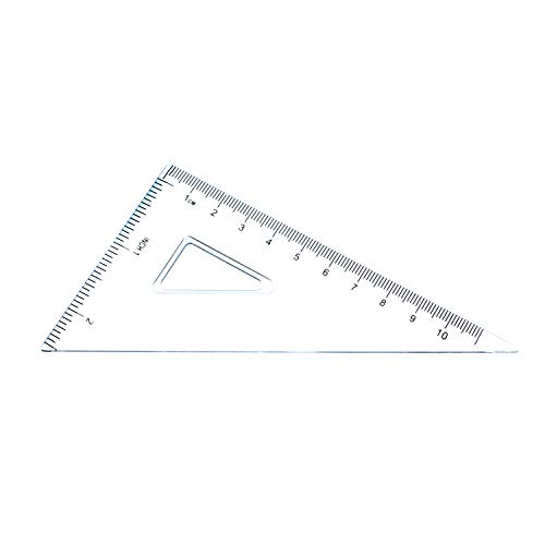 7 Piece Geometry School Set,with Quality Compass, Linear Ruler, Set Squares, Protractor, by XiangLv (Image #6)