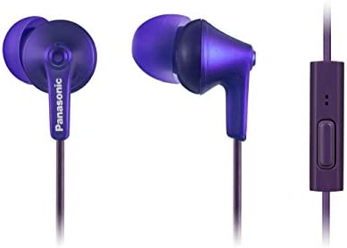 PANASONIC ErgoFit Earbud Headphones with Microphone and Call Controller  Compatible with iPhone, Android and BlackBerry - RP-TCM125-VA - in-Ear