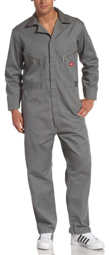 Dickies Men's Deluxe Long Sleeve Blended Coverall, Gray, 2X/Tall