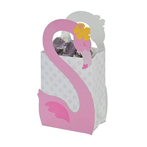 Pink Flamingo Luau Party Favor Boxes (1 Dozen) ()
