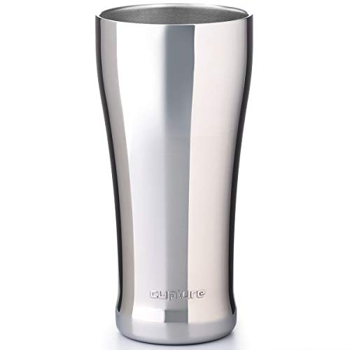 Cupture Double Walled Vacuum Insulated Pint Cup/Beer Mug - 16 oz (Chrome)