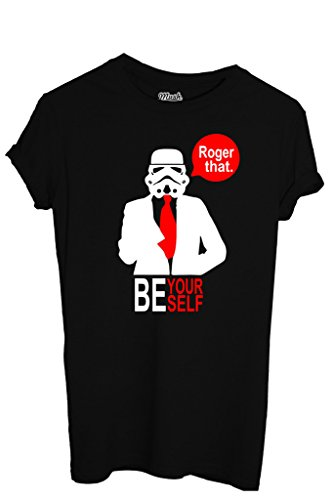 T-Shirt BE YOURSELF STORM TROOPER - FILM by iMage Dress Your Style - Uomo-S-NERA