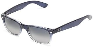 Ray-Ban Unisex New Wayfarer Polarized Sunglasses, Blue Gradient on Transparent, Crystal Blue Gradient Grey, 55mm (B004MSYWH8)   Amazon price tracker / tracking, Amazon price history charts, Amazon price watches, Amazon price drop alerts