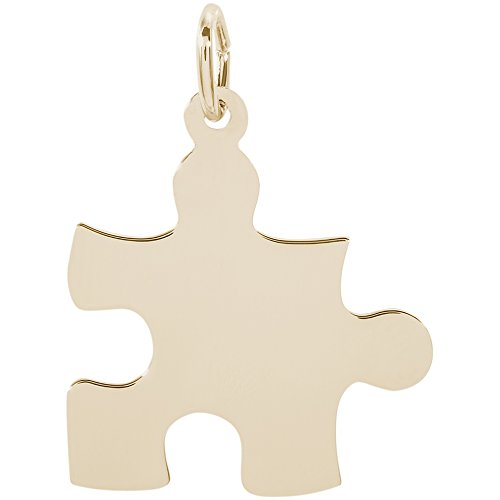 Rembrandt Charms 14K Yellow Gold Puzzle Piece Charm (0.7 x 0.74 inches)