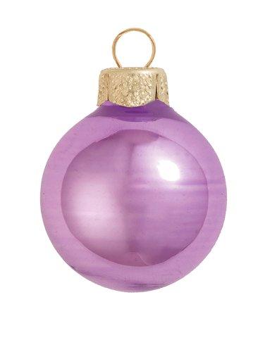Soft Lavender Ball Ornament - 40ct Shiny Soft Lavender Purple Glass Ball Christmas Ornaments 1.25