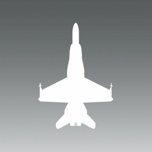 (2x) F-18 Hornet - White - Sticker - Decal - Die Cut