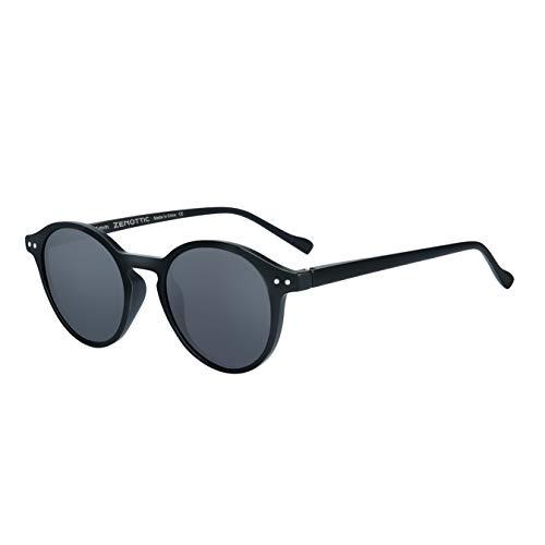 ZENOTTIC Polarized Vintage Classic Round Sunglasses UV400 For Men Women (MATTE ()